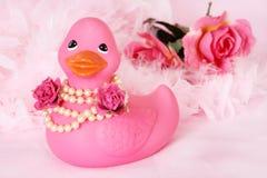 Fille de fleur en caoutchouc de canard Image stock