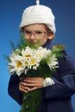 fille de fleurs Image stock