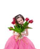 fille de fleurs images stock