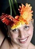 fille de fleurs Photographie stock libre de droits