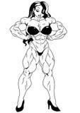 Fille de forme physique dans le bikini Photo stock