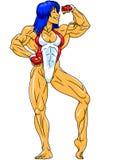 Fille de forme physique dans un maillot de bain Photos libres de droits