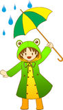 Fille de Froggy Images stock