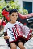 Fille de Gipsy de musicien Image libre de droits