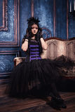 Fille de Goth Photos stock