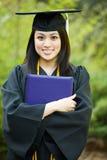 Fille de graduation Images stock
