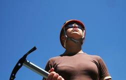 Fille de grimpeur images libres de droits