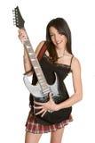 Fille de guitare électrique images stock