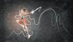 Fille de gymnaste Photographie stock libre de droits