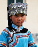Fille de Hani, Chine Photos stock