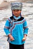 Fille de Hani, Chine Photographie stock