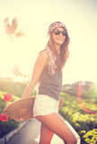 Fille de hippie image libre de droits