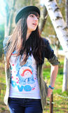 Fille de hippie Photo libre de droits