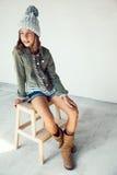 Fille de hippie de mode Photo libre de droits