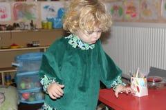 Fille de Homeschooled Images libres de droits