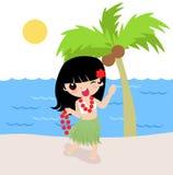 Fille de Hula hawaïenne Image stock