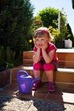 Fille de jardin photo libre de droits