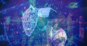 Fille de jeunes de composition en Science utilisant la réalité augmentée combinée avec la photo abstraite banque de vidéos