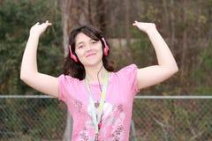 Fille affectueuse de musique Images libres de droits
