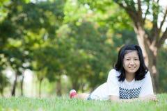 Fille de l'adolescence asiatique. Photo stock