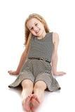 Fille de l'adolescence blonde mignonne Images libres de droits