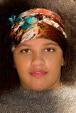 Fille de l'adolescence d'Afro-américain Photos stock