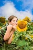 Fille de l'adolescence de beauté Photo libre de droits