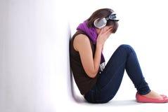 Fille de l'adolescence de dépression image libre de droits