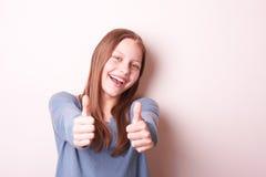 Fille de l'adolescence de sourire mignonne Images stock