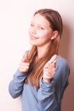 Fille de l'adolescence de sourire mignonne Photos stock