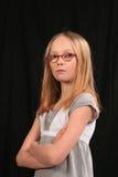 Fille de l'adolescence fâchée Image libre de droits
