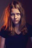 Fille de l'adolescence fâchée Images libres de droits