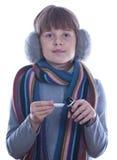 Fille de l'adolescence malade Photographie stock libre de droits