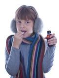 Fille de l'adolescence malade Image stock