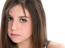 Fille de l'adolescence triste de plan rapproché Photo stock