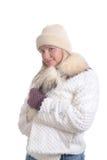 Fille de l'hiver Image stock