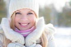 Fille de l'hiver Photos stock