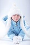 Fille de l'hiver Images libres de droits