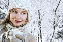 Fille de l'hiver Photo stock