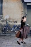 Fille de la Chine des années 20 avec le lugga Photos libres de droits