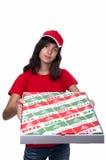 Fille de la distribution de pizza Image stock