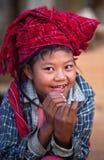 Fille de la tribu PA-o, Myanmar Photographie stock libre de droits