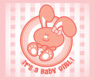 Fille de lapin de chéri Image libre de droits