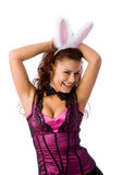 Fille de lapin sexy Images stock