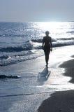 Fille de lever de soleil Photo stock