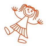 Fille de Lineart illustration libre de droits