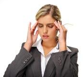 Fille de mal de tête image stock