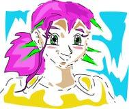 Fille de Manga Photos libres de droits