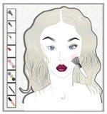 Fille de maquillage Photos libres de droits
