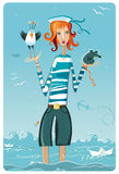 Fille de marin Image libre de droits